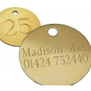 38mm Etched Hotel Tag