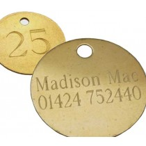 32mm Etched Hotel Tag