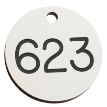 25mm Heavy duty engraved numbered key tag, various colours