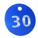30mm Engraved Aluminium Tags  ***New Trial Price**