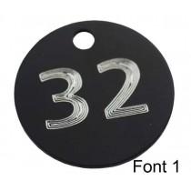 32mm Engraved Aluminium Tags