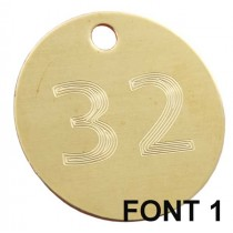 32mm Etched / Engraved Brass Disc Tag