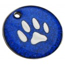 Large 32mm, Engraved Dog ID Tag, (Glitter Paw)
