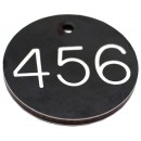 35mm Heavy duty engraved numbered key tag, various colours