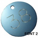 38mm Engraved Aluminium Tags