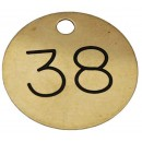 38mm Engraved Brass Tag, Black Filled