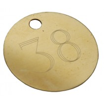 38mm Etched / Engraved Brass Disc Tag