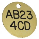 Fleet Car / Truck Registration ID Disc, Brass, 38mm