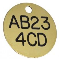 Fleet Car / Truck Registration ID Disc, Brass, 38mm