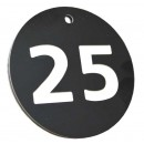 50mm Heavy duty engraved numbered key tag, various colours
