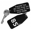 Small Hotel Key Fob, Various Colours, 75mm x 35mm