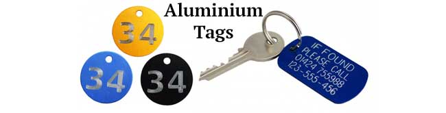 Aluminium Key Tags