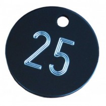 25mm Engraved Aluminium Tags