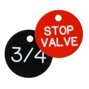 Basic Valve Tags, 30mm Plastic