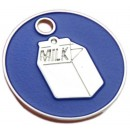 Enamelled Milk Carton Cat ID Tag