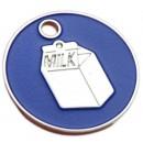 Enamelled Milk Carton Cat ID Tag