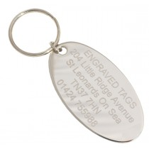 Chrome Plated Oval Engraved Room Tag