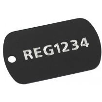 Fleet registration aluminium tags, 50x30mm
