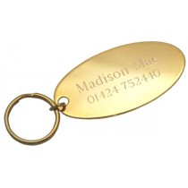 Gold Plated Oval Engraved Room Tag