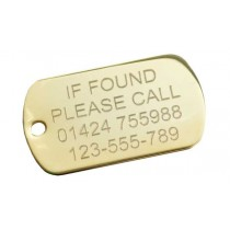 Gold Plated If Found Engraved Tag, 50x29mm