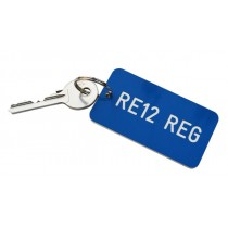 Heavy Duty Registration Key Fob, Various Colours, 75mm x 40mm