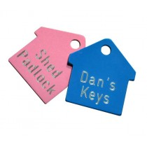 House Shaped Engraved Key Labels