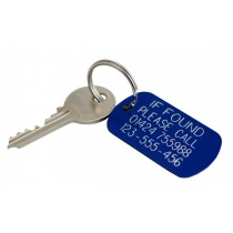 If found engraved aluminium tag, 50x30mm