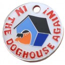 In The Dog House Comical Dog Tag