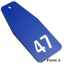 Large Hotel Key Tag, Various Colours, 100mm x 47mm