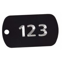 Numbered aluminium tags, 50x30mm