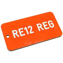 Registration Key Fob, Various Colours, 75mm x 40mm