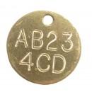 Registration Identification Tag, Deep Engraved Brass, 32mm