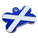 Scottish Flag Bone Engraved Dog ID Tag