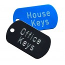 Small Military Engraved Key Labels