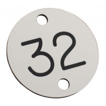 32mm Two Holed Plastic Seat Numbering