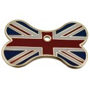 Union Jack Bone Engraved Dog ID Tag