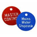 Valve Tags, 30mm Coloured Aluminium