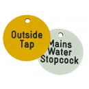 Valve Tags, Laminated Plastic, 40mm