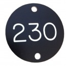 Weatherproof Tag, 40mm Diameter, 2 x 4mm Holes