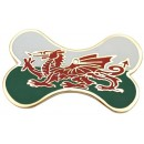Welsh Flag Bone Engraved Dog ID Tag