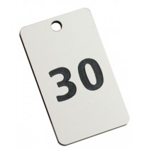 Small numbered tag, 50mm x 30mm
