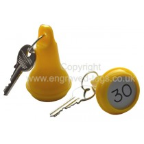 Bulky Pear Shaped Hotel Fob, with Engraved Insert