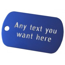 Engraved Aluminium Tag, 50x30mm
